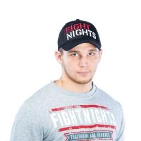 Бейсболка Fight Nights прямой логотип черная