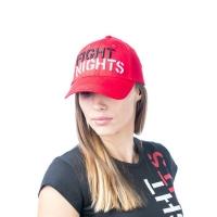 Бейсболка Fight Nights прямой логотип красная