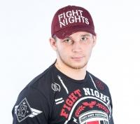 Бейсболка Fight Nights прямой логотип бордовая ( рваный козырек )