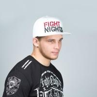 Бейсболка Fight Nights Лого New Era белая