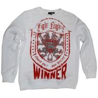 Свитшот Fight Nights Winner белый