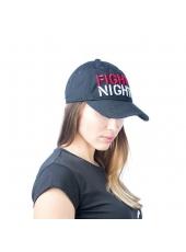 Бейсболка Fight Nights прямой логотип черная (рваный козырек)