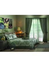 Комплект для спальни покрывало и шторы Rosabella