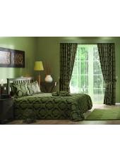 Комплект для спальни покрывало и шторы Pergola