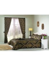 Комплект для спальни покрывало и шторы Elegant