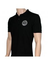 Футболка поло Fight Nights черная (белый логотип)