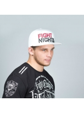 Бейсболка Fight Nights Лого New Era белая